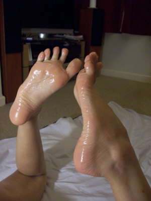 Playing with girlfriends feet
